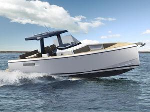 barca open entrobordo / con console centrale / open / sportiva