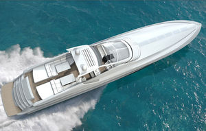 motor-yacht rapido / open / soft-top / in composito