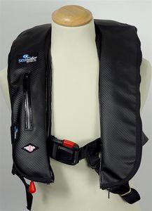 giubbotto di salvataggio in schiuma / autogonfiabile / 170 N / con imbracatura di sicurezza
