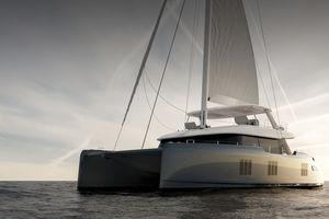 sailing-yacht catamarano / da crociera / con fly / con 6 cabine