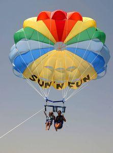 paracadute ascensionale per vento forte