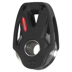 bozzello con cuscinetto a sfere / singolo / con attacco tessile / cima max. 8 mm