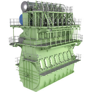 motore per nave lento / diesel / a gas / a doppio combustibile