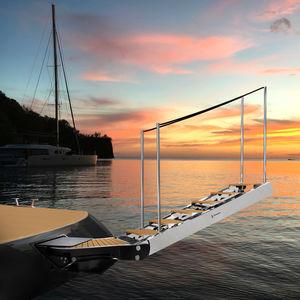 scaletta per yacht / girevole / di imbarco / di poppa