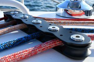 rinvio piano per barche a vela 2 pulegge