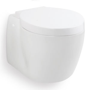 WC marino / con frantumatore / a muro / sospeso