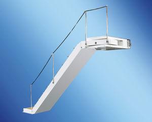 scaletta per barca / laterale / di imbarco / in teak
