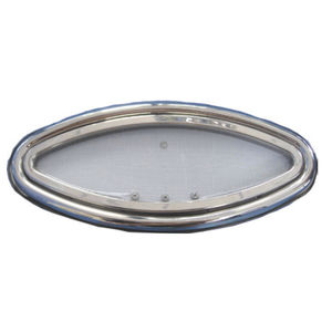 oblò ovale / per barca / apribile / con angoli arrotondati