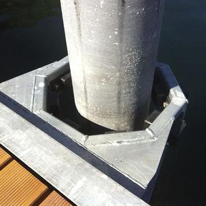 sistema di ancoraggio per pontili