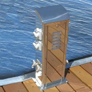 colonnina di illuminazione / di distribuzione elettrica / di distribuzione di acqua / per pontile