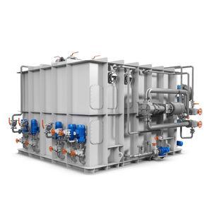 sistema di trattamento delle acque nere / per nave / con separatori per applicazioni / a membrana