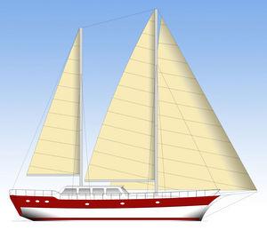 sailing-yacht da crociera / con cockpit chiuso / ketch