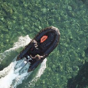 barca professionale barca militare / fuoribordo / trasportabile / gommone pieghevole