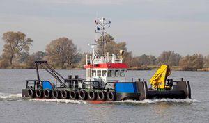 barca professionale spintore / entrobordo