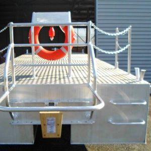 barca professionale chiatta da lavoro / entrobordo / in alluminio