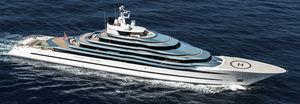 mega-yacht di lusso da crociera