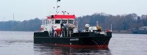 barca professionale nave antinquinamento / entrobordo / in alluminio