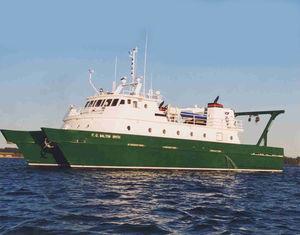 nave per ricerca oceanografica catamarano