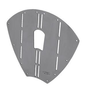 piastra di protezione per prua di imbarcazioni (in acciaio inossidabile)