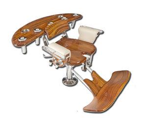 sedia da combattimento in teak