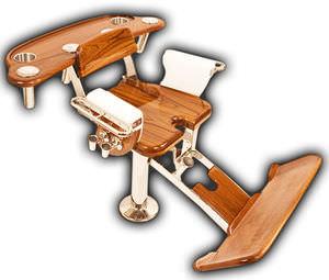 sedia da combattimento in teak / per barca / con braccioli