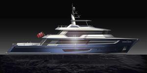 super-yacht per spedizione / tradizionale / con cabina di pilotaggio / in acciaio