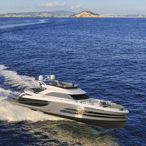 motor-yacht da crociera / con fly / IPS POD / in alluminio