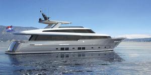 super-yacht da crociera / tradizionale / raised pilothouse / in alluminio