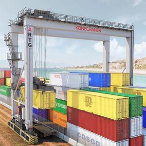 gru di impilaggio per container gommata / automatica