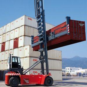 carrello portacontainer vuoto / con presa laterale