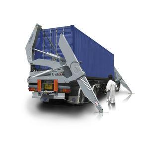 rimorchio portacontainer / per terminale portuario / caricamento laterale / autocaricante