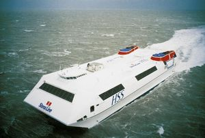 traghetto per auto ad alta velocità