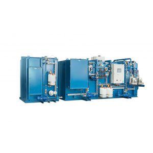 sistema di trattamento di acque reflue / per nave / biologica / a membrana