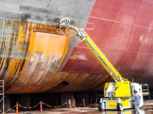pulitore ad alta pressione per cantiere navale
