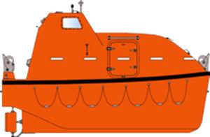 scialuppa di salvataggio chiusa