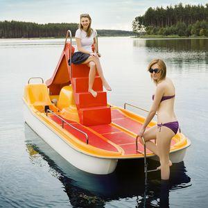barca a pedali 6 posti