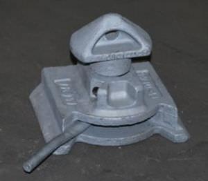 twist lock per l'ancoraggio dei container a coda di rondine
