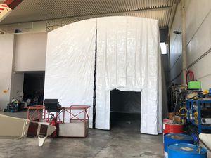 cabina di sabbiatura per cantiere navale