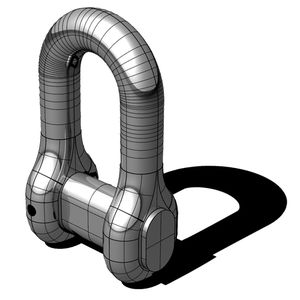 grillo per nave diritto / di assemblaggio per catena di ancora / forgiato / in acciaio inox