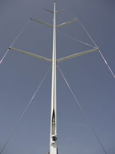 albero per barca a vela / avvolgitore / in carbonio