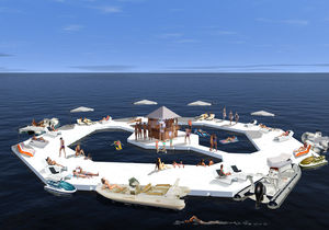 isola galleggiante artificiale
