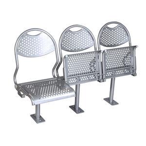 sedile per nave passeggeri / ribaltabile / in acciaio inox