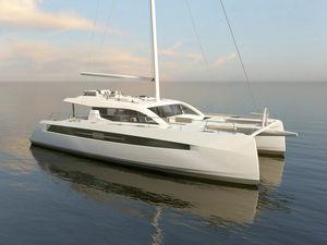catamarano / da crociera / con poppa aperta / con 3 cabine