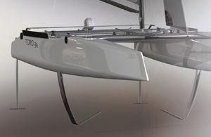 catamarano / da regata / con poppa aperta / in carbonio