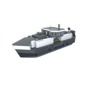 nave per l'acquacoltura feeder