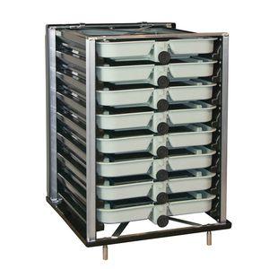 incubatoio ittico per acquacoltura / per trote / per salmoni / verticale