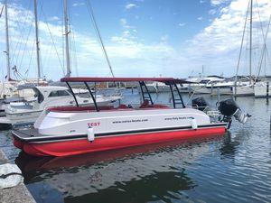 pontoon boat fuoribordo