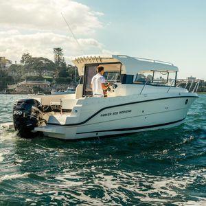 barca da pesca-crociera fuoribordo