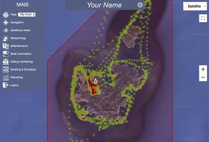 sistema di monitoraggio per nave / per yacht / per cantiere navale / per marina