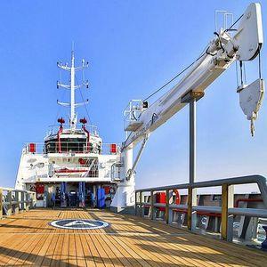 gru con braccio / per nave / su piattaforma galleggiante / per yacht